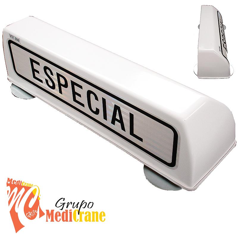 Cartel avisador ESPECIAL V-21 GM con imán y sin luz